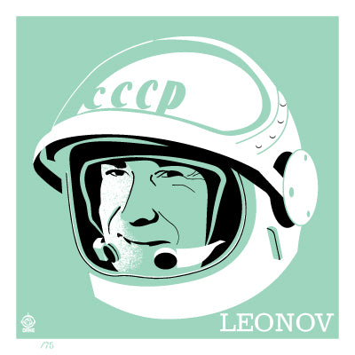 Astronaut of the Month Alexei Leonov 4x4 Limited Edition art print