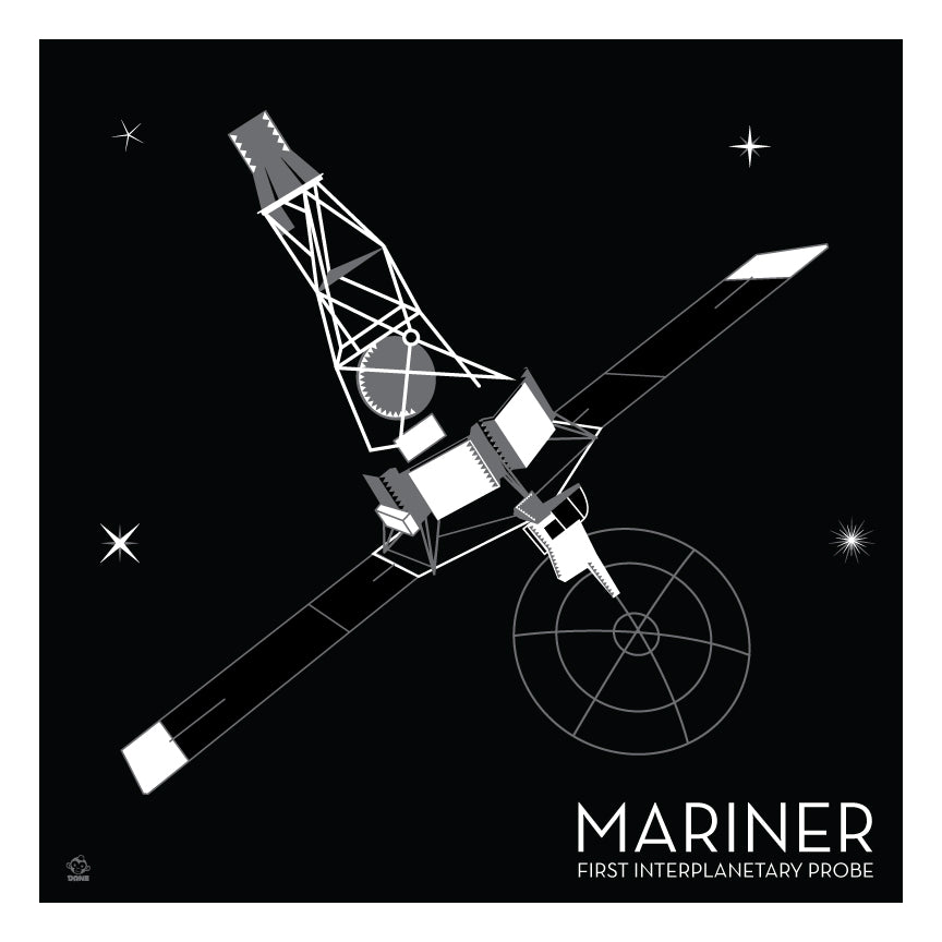 Mariner Interplanetary Probe - 10x10 Giclee Print