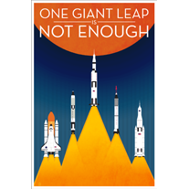 Load image into Gallery viewer, One Giant Leap NASA-Inspired - 12x18 POPaganada Print