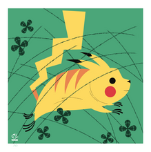 Load image into Gallery viewer, Pikachu 8x8 Mid-Century Modern Giclee Print