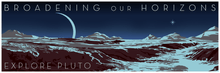 Load image into Gallery viewer, Pluto's Horizons Space Travel 12x36 POPaganda print