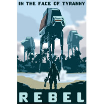 Load image into Gallery viewer, Rebel in the Face of Tyranny - 12x18 POPaganada Print