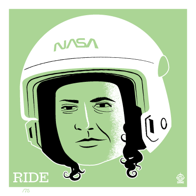 Astronaut of the Month Sally Ride - 4x4 Limited Edition Print