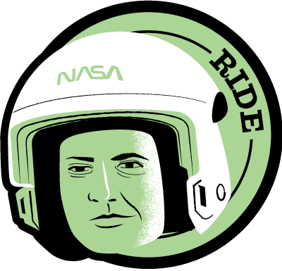 Astronaut of the Month Sally Ride Wood Pin