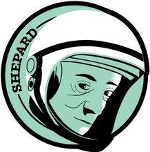 Load image into Gallery viewer, Astronaut of the Month Alan Shepard Wood Pin