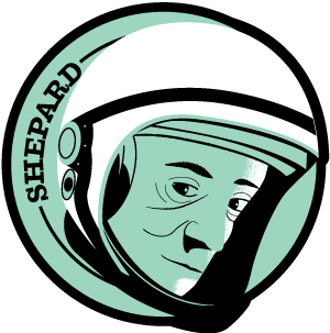 Astronaut of the Month Alan Shepard Wood Pin