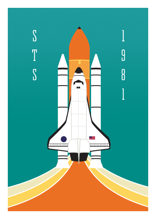 STS Shuttle 5x7 Giclee Print