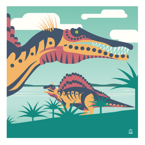 Spinosaurs 10x10 Giclee Print