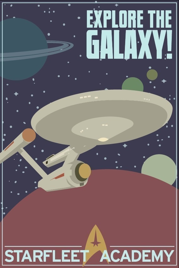 Explore The Galaxy Star Trek 12x18 Print