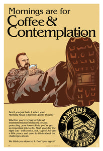 Stranger Things Coffee & Contemplation Limited Edition Giclee