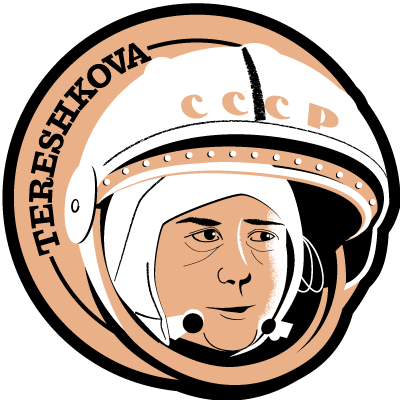 Astronaut of the Month Valentina Tereshkova Wooden Magnet