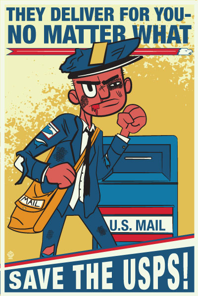 USPS No Matter What 5x7 Postcard