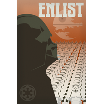 Load image into Gallery viewer, Enlist in the Empire 12x18 Print