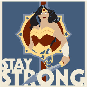 Wonder Woman Stay Strong 8X8 Art Print