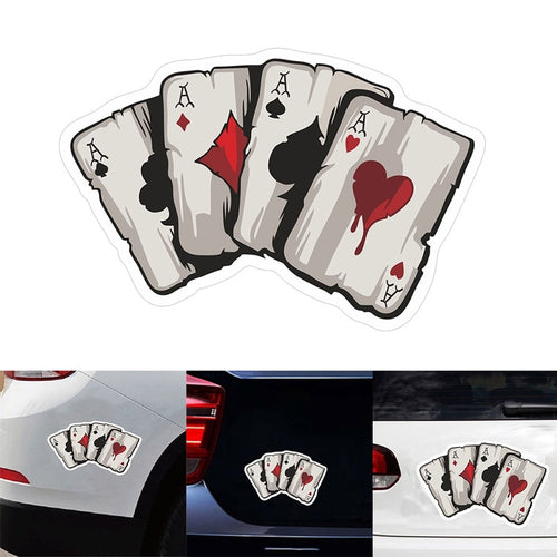 Playing Cards Decal Car Sticker