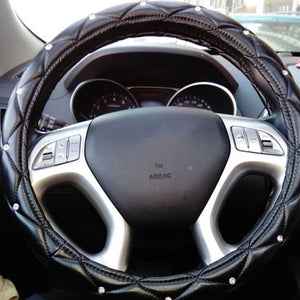 Soft Leather Auto Steering Cover