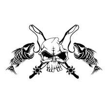 Load image into Gallery viewer, Fishing Skull Skeleton Fish Car Sticker