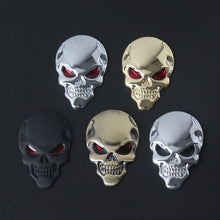 Load image into Gallery viewer, Metal Skull Car Sticker