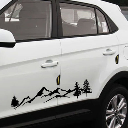 Tree Decal Mountain Car Sticker