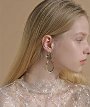 Load image into Gallery viewer, Fantasy of Matisse Gold Drop Earrings