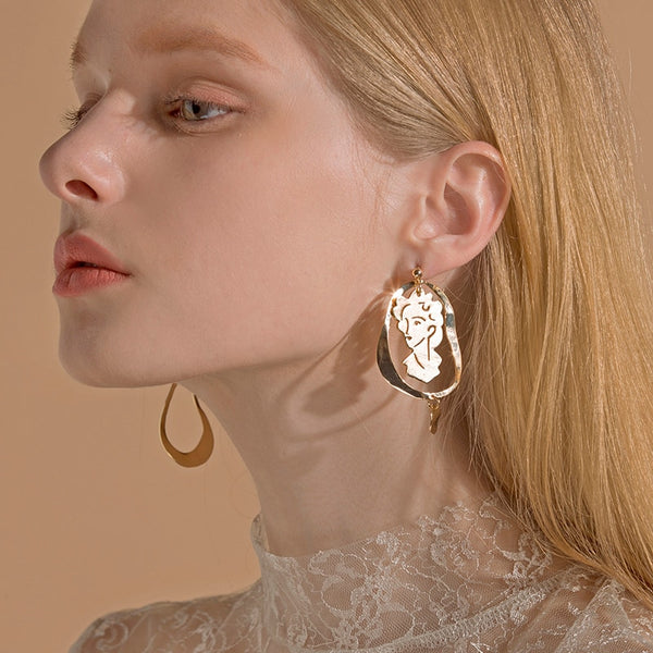 Fantasy of Matisse Gold Drop Earrings