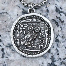 Load image into Gallery viewer, Vintage Owl Coin Necklace