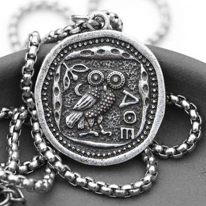 Vintage Owl Coin Necklace