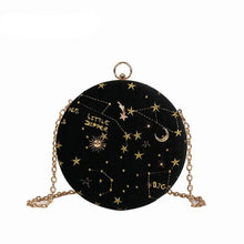 Load image into Gallery viewer, Starry Sky Round Shoulder Bag