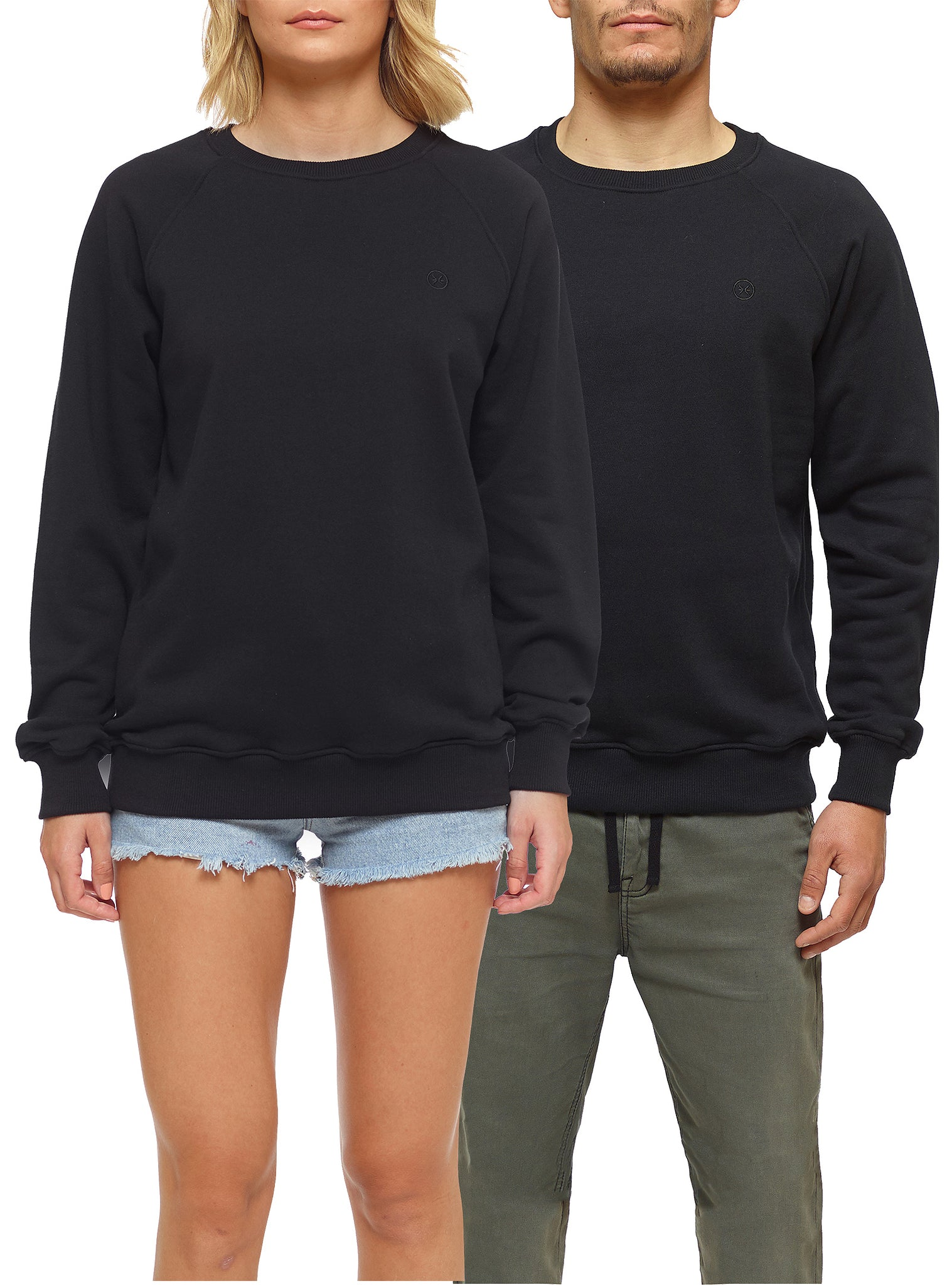 Embroidery Sweat Crewneck Preto