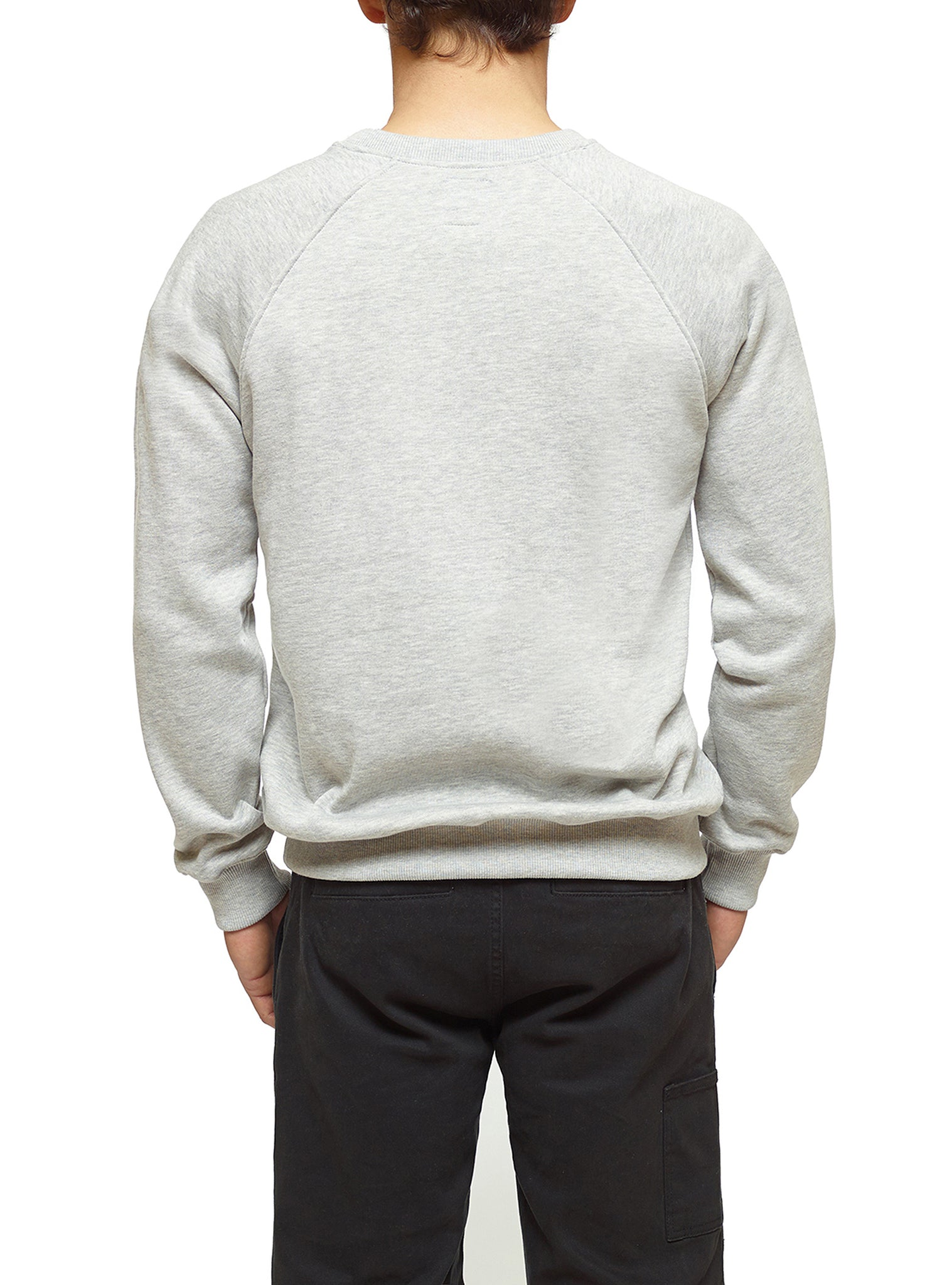Embroidery Sweat Crewneck Cinzento