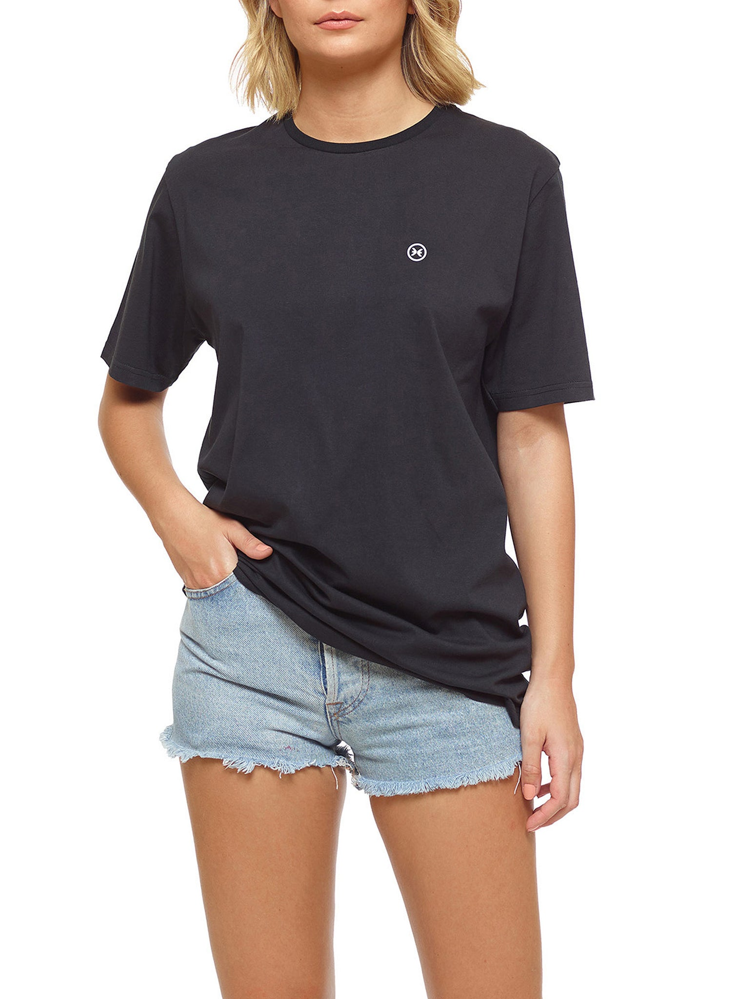 Embroidery T-shirt Preto