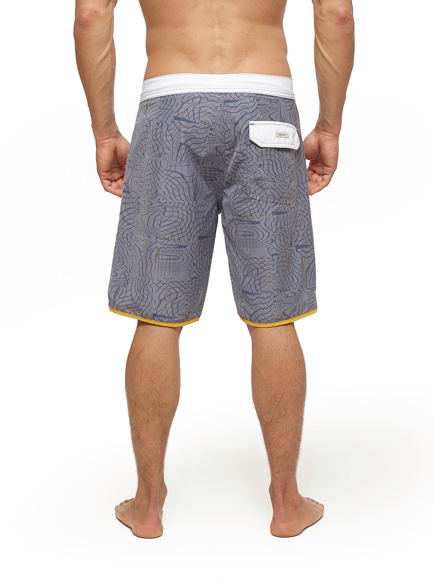Horizon Stripes Boardshort Cinzento