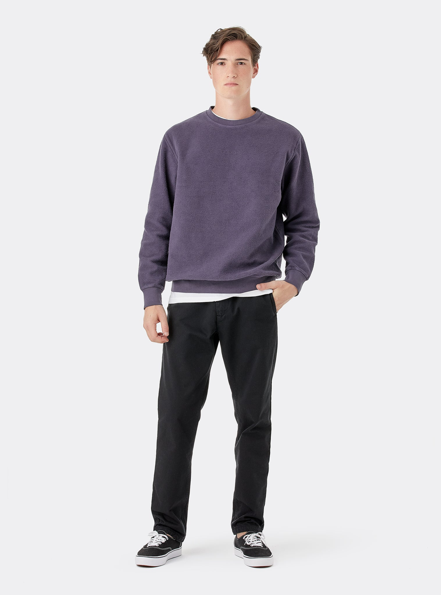 Uncover Sweat Crewneck Roxo