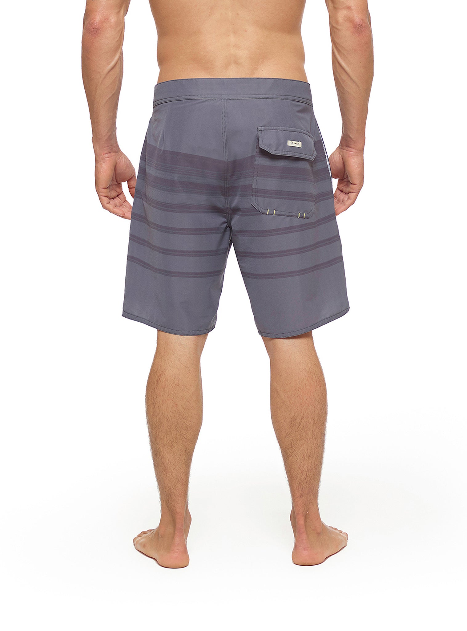 Horizon Stripes Boardshort Preto