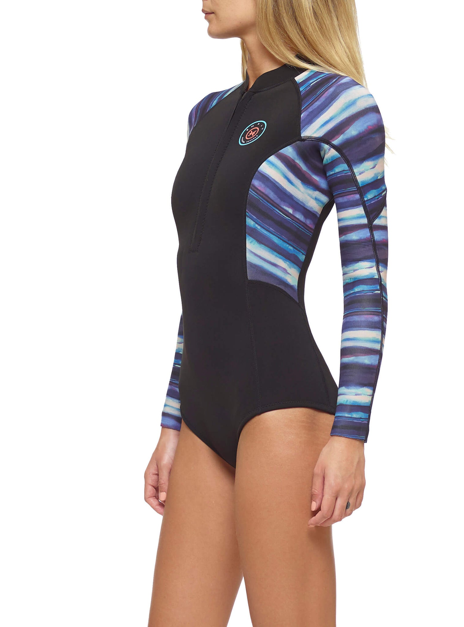 Fato De Surf Mulher Crystal Capsule 2/2 Front Zip Multicor