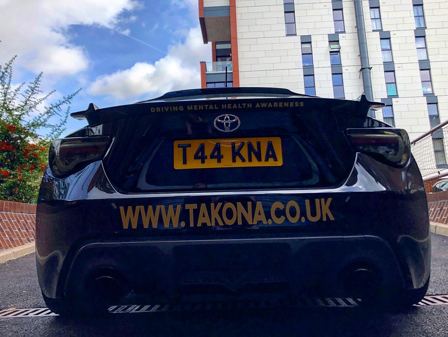 Takona GT86 with the New T44KNA Number plate
