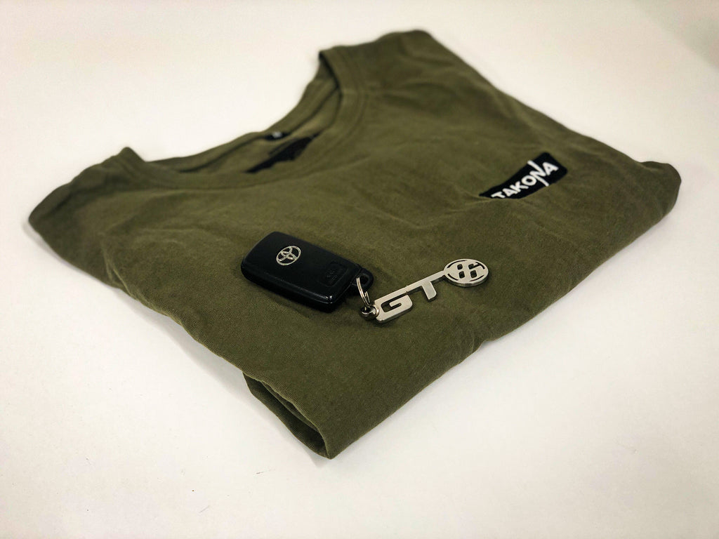 Premium long fit embroidered logo tee