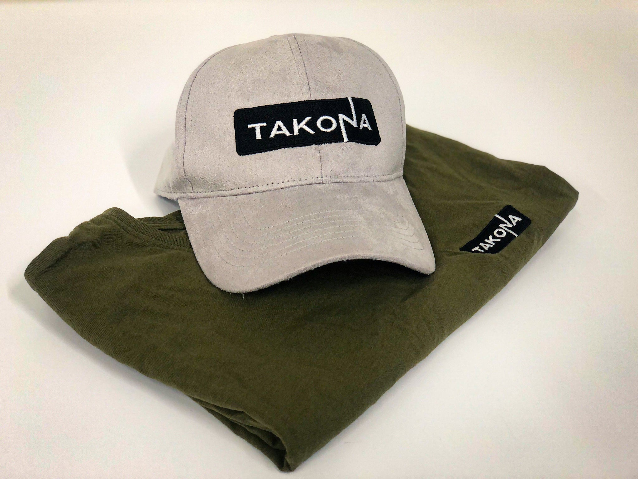 Takona Logo Embroidered Suede Baseball Cap