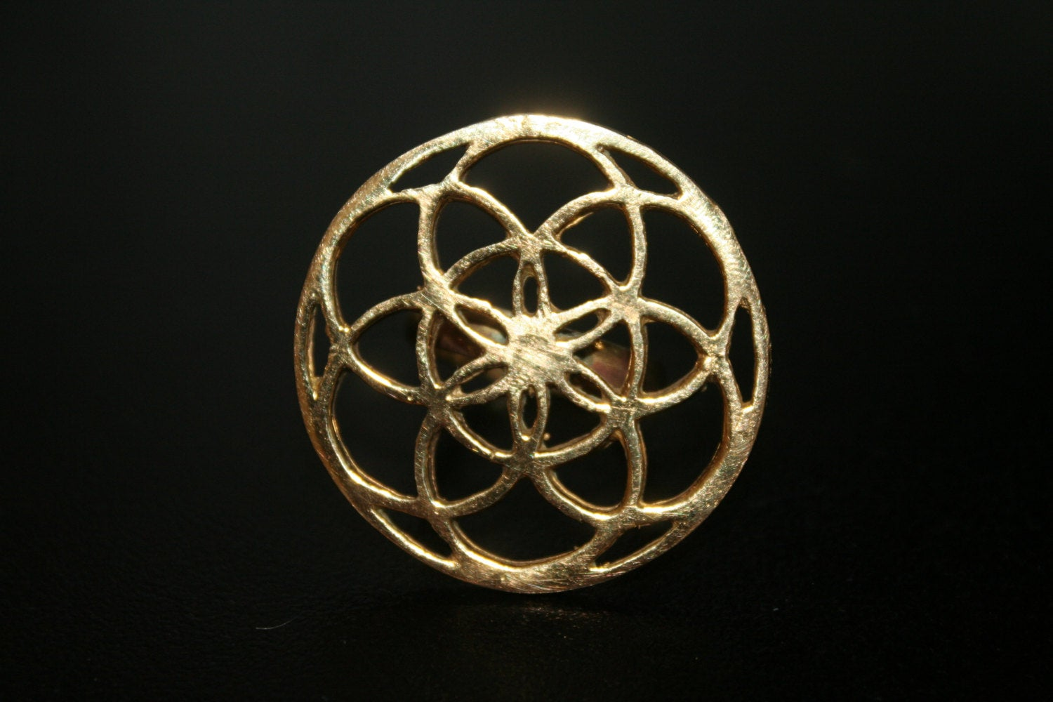 SEED OF LIFE Brass Ring - Gypsy Ring, Tribal Ring, Hippie Ring, Boho Ring, Psy, Flower of Life Ring, Sacred Geometry Ring Size K L M N O P