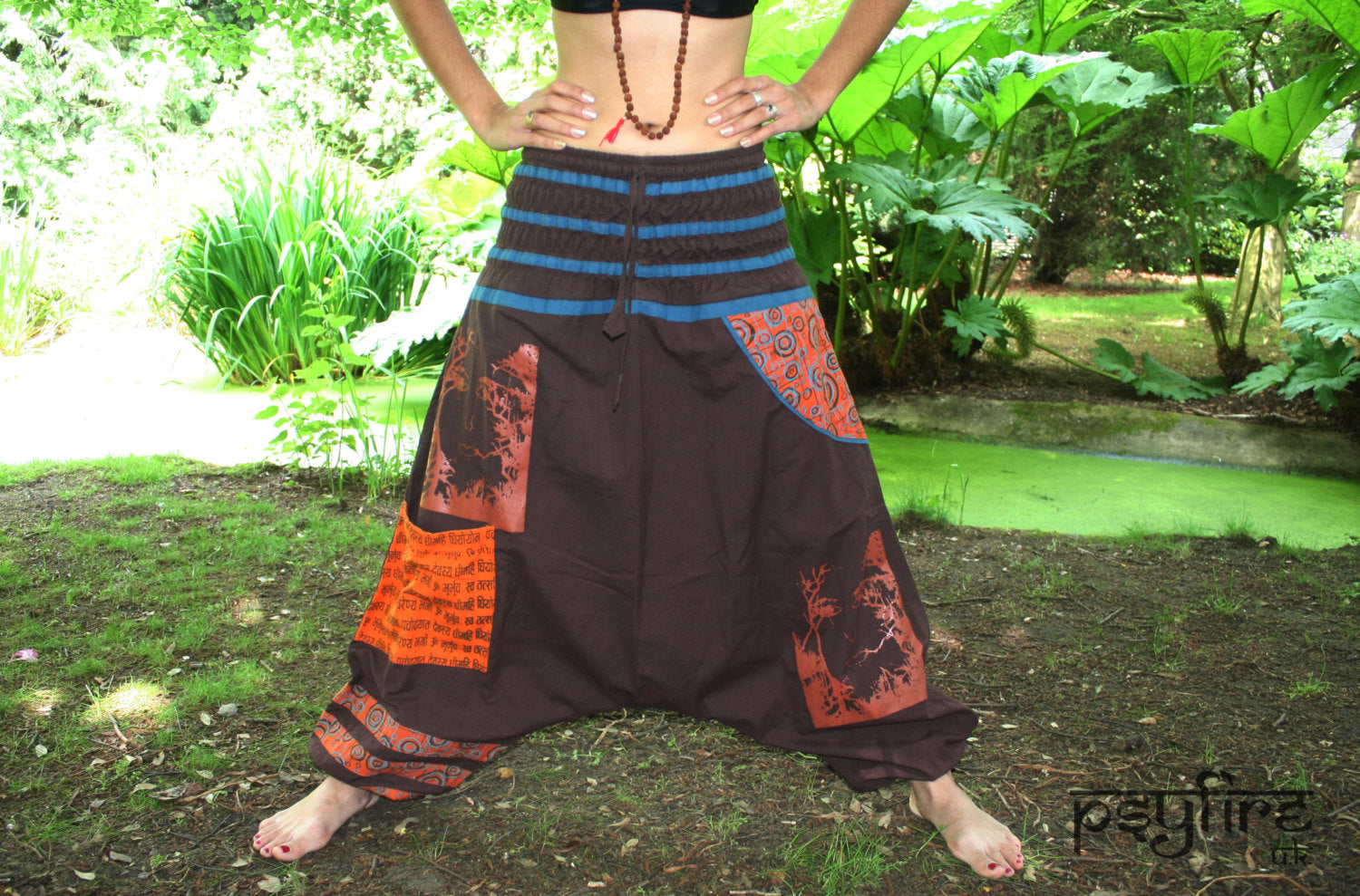 BROWN Harem Pants - Unisex Ali Baba Trousers, Hippie Yoga Pants, Fisherman Pants, Boho Baggy Trousers, Psytrance Pants, Aladdin Trousers Psy