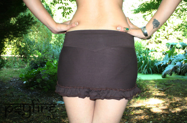MANDALA PIXIE Skirt - Belt Skirt, Festival Skirt, Lace Miniskirt, Psytrance Skirt, Gypsy Skirt, Mini Skirt, Psy Clothing, Tribal Skirt
