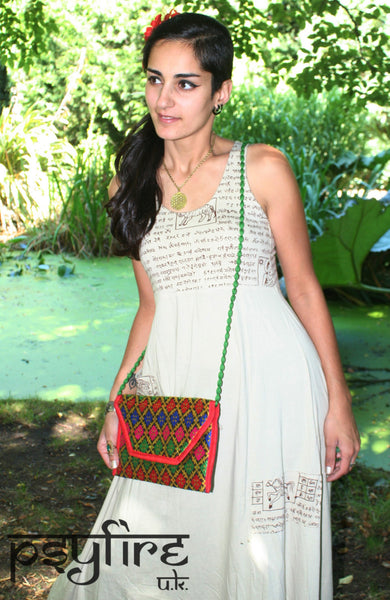 EMBROIDERED BAG - Boho Handbag, Boho Clutch Bag, Boho Evening Bag, Ethnic Handbag, Tribal Handbag, Vintage Handbag, Vintage Clutch Bag, Psy