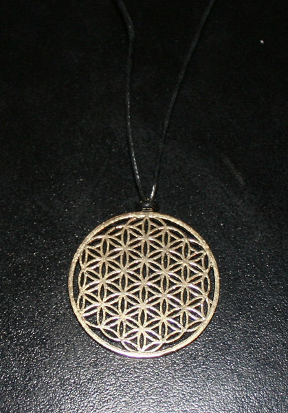 FLOWER OF LIFE Brass Pendant - Mandala Necklace, Tribal Necklace, Hippie Psy, Boho Necklace, Sacred Geometry Pendant, Bohemian Pendant