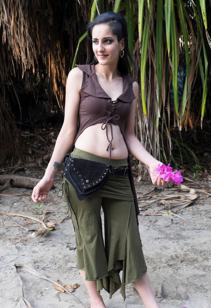 Festival Clothing and Utility Belts for Women - Psytrance Hip Bag, Fanny Pack, Boho Pocket Belt, Psy