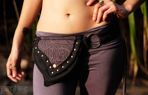 TRIBAL Utility Belt - Festival Belt, Psytrance Belt, Hippie Fanny Pack, Psy Pocket Belt, Hip Bag