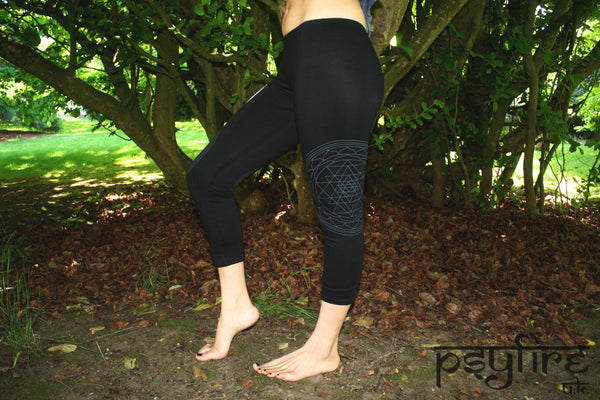 SRI YANTRA Leggings - Hippie Yoga Pants, Festival Leggings, Psytrance Leggings, Yoga Pants, Flow Leggings, Festival Clothing, Pixie, Psy