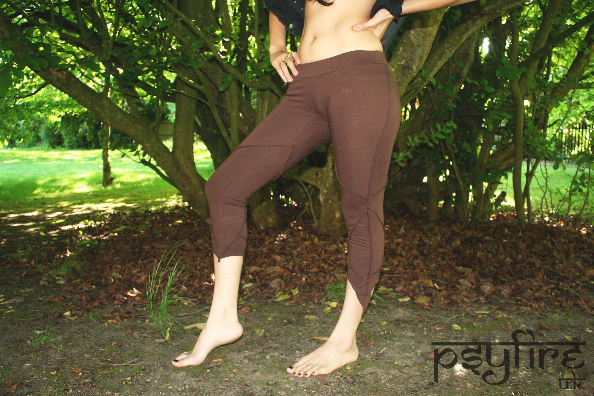BROWN PIXIE Leggings - Hippie Yoga Pants, Festival Leggings, Psytrance Leggings, Yoga Pants, Flow Leggings, Festival Clothing, Pixie, Psy