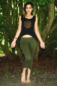 FLOWER OF LIFE Top - Pixie Top, Yoga Top, Festival Top, Rave Wear, Hippie Tank Top, Hippie Vest, Psytrance, Festival Clothing, Psy Strap Top