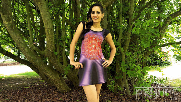 FLOWER OF LIFE Dress - Festival Top, Festival Dress, Hippie Top, Hippie Dress, Psytrance Top, Festival Clothing, Psy, Rave Wear, Psychedelic