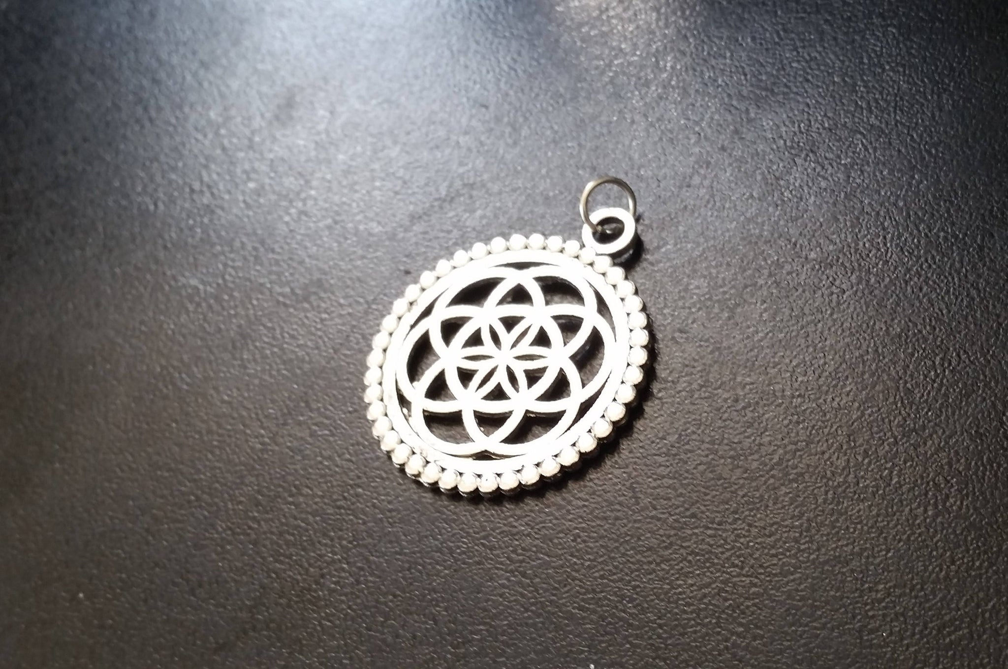 SEED OF LIFE Silver Pendant - Necklace, Tribal Necklace, Flower of Life Necklace, Tribal Necklace, Boho Sacred Geometry Necklace, Gypsy